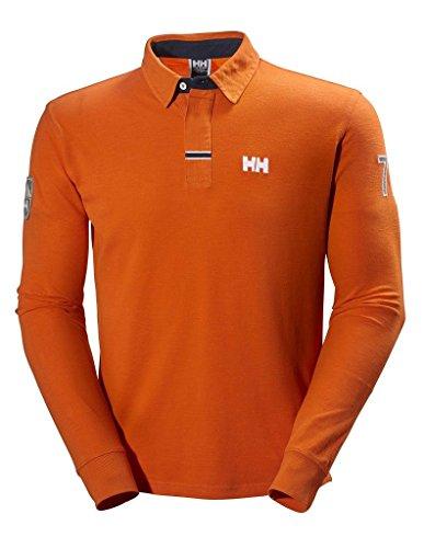 Helly Hansen Legacy Ls Polo a Maniche Lunghe, Arancione (Magma), S