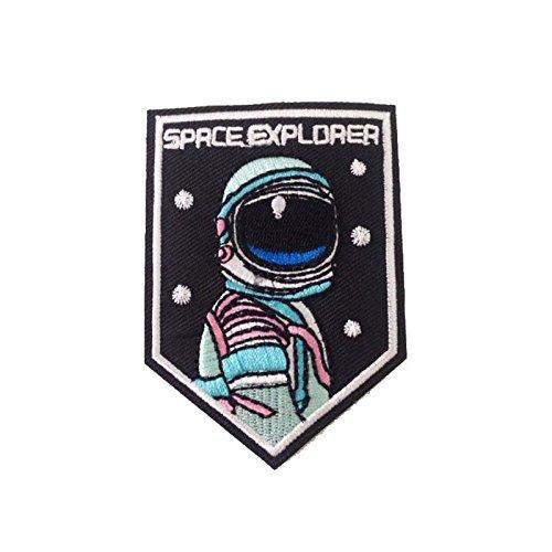 Space Explorer Eisen auf Sew auf bestickt Kids Fancy Dress ()