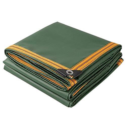 LXLA- Bâche verte avec bordure renforcée, Bâches résistantes aux déchirures, Toile de jute imperméable à 100% - 650g/m² (taille : 4m x 6m)