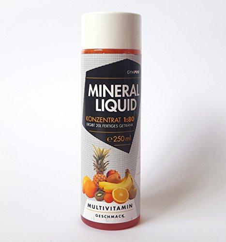Low Carb Vitamin und Mineral Getränk von GymPro in 250ml Flasche. 1:80 Konzentrat zum Anmischen von Getränken.