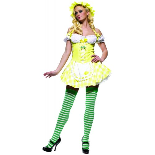 Leg Avenue - Lemon Girl Dirndl Kostüm - gelb - 83313 (Small)