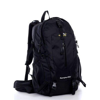 ShangYi All'aperto alpinismo borsa doppio donne spalla borse uomo sport viaggio zaino , dark blue Black