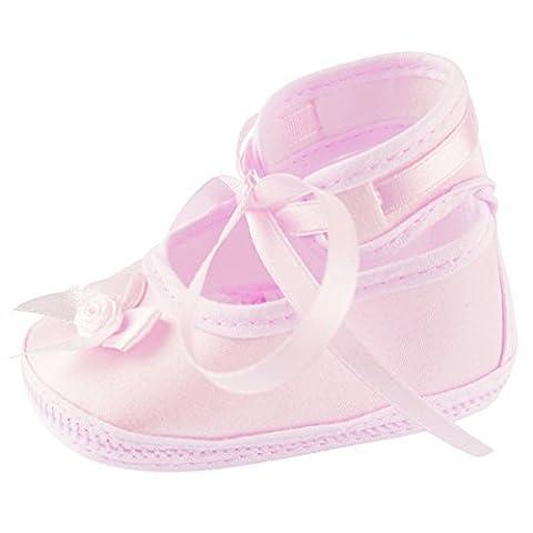 Taufschuhe Baby Schuhe Leder Sandalen Taufe Junge Mädchen Lauflernschuhe, Baby Farbe:Rosa;Babyschuh Größe:9cm