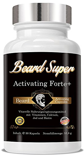 Bart Wachstums Mittel Beard Super Activating Forte+ 90 Cellulosekapseln