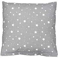 TupTam Kissenbezug Dekokissen Gemustert 100% Baumwolle , Farbe: Sterne Grau, Größe: 80x80 cm