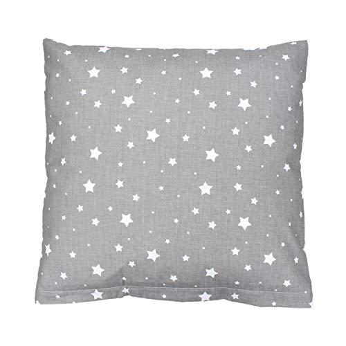 TupTam Funda de Almohada con Diseños para Niños, Estrellas Gris, 40 x 60 cm
