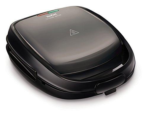 Tefal SW341B Snack Time mit Multifunktionsgerät für Waffeln und Sandwiches inklusiv 2 Plattensets, 700 W, grau/schwarz