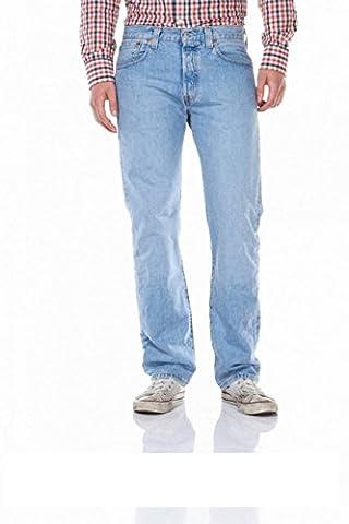 Levi's® 501® Jeans - Regular Straight Fit - Stonewash - Onewash - Marlon Wash - Black - Light Broken In, Größe:W 34 L 36;Wash:light broken in