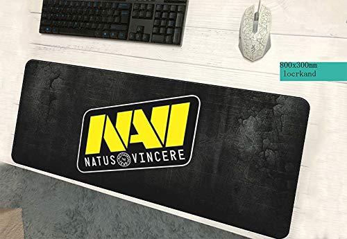 jasonding Alfombrilla De Ratón Ratón Natus Vincere Pad Mouse De Gama Alta Computadora Gamer Mouse Pad 800X300Padmouse Borde Cerrado Mousepad Ergonómico Escritorio De Oficina Esteras