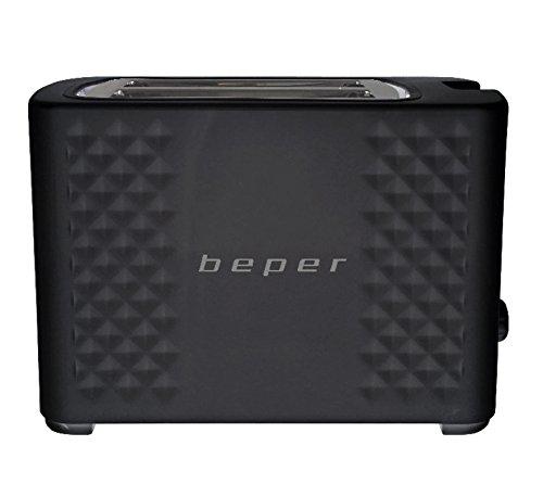 BEPER Tostadora BT.100N Color Negro, Ranura XXL, 6 Niveles, 750W, 750 W, 0 Decibelios, 2