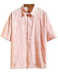 Fannyfuny camiseta Hombre Camisa Polo con Punta Camisa Polo para Hombre Manga corta Camiseta Color Solido