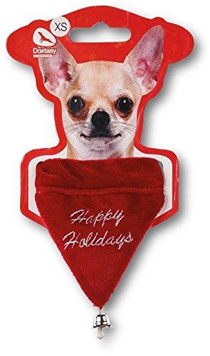 Doxtasy Holiday Christmas Dog Bandana (XS) (Kurze Bandana)