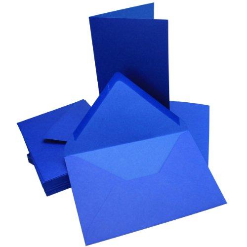 Faltkarte DIN B6 quer Navy Blue 50 Stück