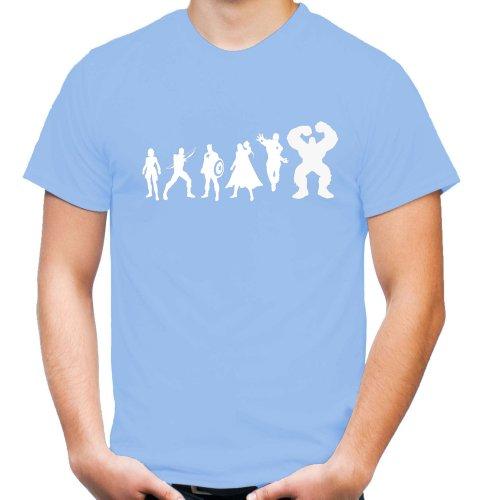 Evolution t-shirt film avengers heroes/kult/fun L,Bleu - Bleu ciel