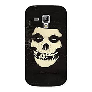 Luxirious Vintage Skull Face Back Case Cover for Galaxy S Duos