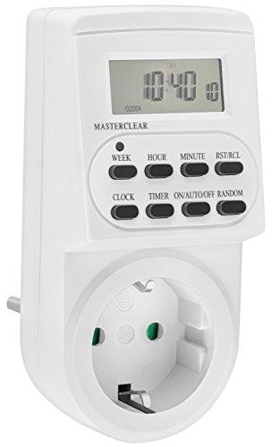 mumbi 23570-Zeitschaltuhr digitale 3600 W, programierbar, Zufallsschaltung, 12-24 h-Modus - GS-geprüft