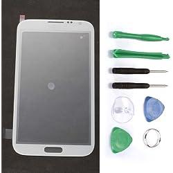 GT-N7100 Vitre de remplacement pour Samsung Galaxy Note 2 Blanc