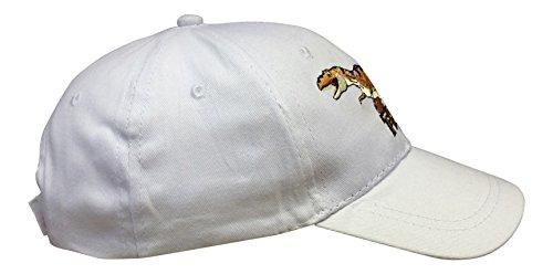 Dinosaure–Garçons été Casquette de baseball Hat (2couleurs) 2tailles disponibles Blanc