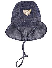 Steiff Baby-Jungen Mütze Jeans mit Schirm
