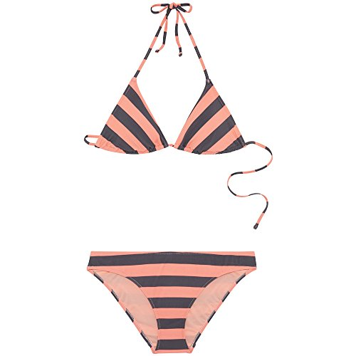 Chiemsee Damen Gemustert zum Schnüren Triangle Bikini-Set, D1091 Stripe, L