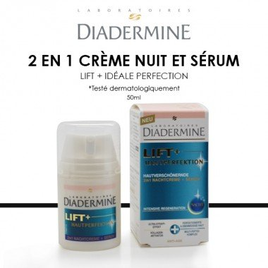 DIADERMINE Lift+ Hautperfektion, 2in1 Nachtcreme + Serum, 50ml