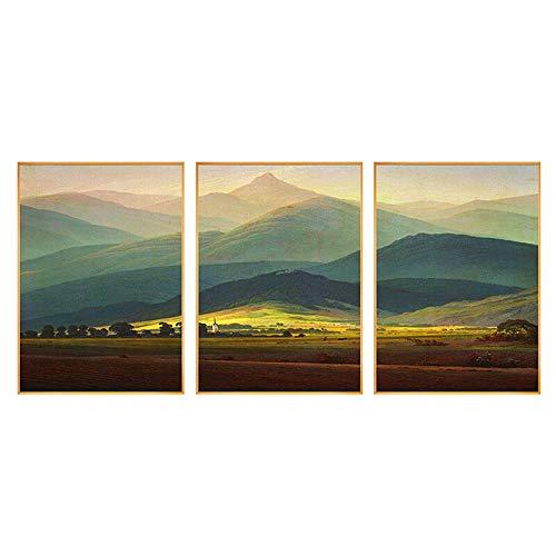 LIUXING-hm Dekor-Plakate Malerei Schlafzimmer Gemälde Kunst for Schlafzimmer Wände Wald Drucke auf Leinwand for modernes Haupt Dekodruck Decor (Farbe : Mountain, Größe : 50X70cm) -