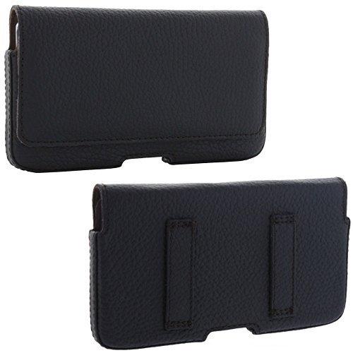 XiRRiX Echt Leder Quertasche 2.2 mit Gürtelschlaufen Größe 3XL für Huawei P9 Y6 - Samsung Galaxy J3 S5 Neo - Sony Xperia M4 M5 Z3 Z5 etc (All One-gürtel-tasche In)