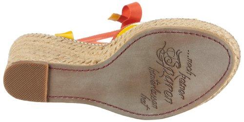 JETTE Colour Fever Wedge Sandal 63/21/14475, Sandales femme TR-B2-Yellow-2