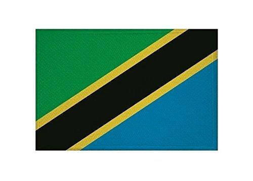UB Aufnäher Tansania Flagge / Fahne Aufbügler Patch 9 cm x 6 cm - Patch Tansania
