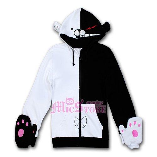 Dangan Ronpa Cosplay Kostüm - Dangan-Ronpa Monokuma Cosplay Hoodie Jacket Größe