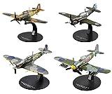 OPO 10 - Set mit 4 Flugzeugen Spitfire Curtiss Hawker 1/72 (AC9 + AC21 + AC24 + AC35)