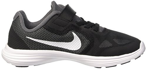 Nike Revolution 3, Running Garçon Gris (Dark Grey/White Black Pr Pltnm)