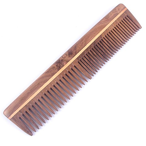 Majik Neem Wood Comb 100% Handemade Anti-Dandruff Comb, Model No.2 (Buy Original Comb only from Majik Instant Hair Volumizer)