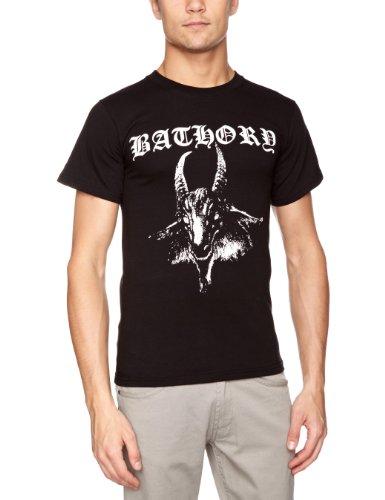 Plastichead - Bathory - Goat, T-shirt da uomo,  manica corta, collo rotondo, nero(schwarz - schwarz), S
