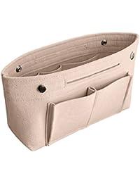 APSOONSELL Women Tote Bag & Handbag Felt Liners, Handbag Organiser Insert with 8 Pockets