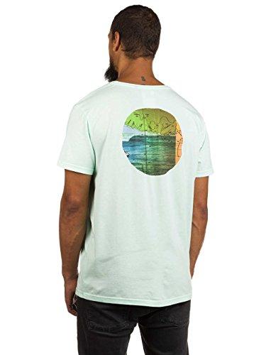 Herren T-Shirt Rip Curl View Circle T-Shirt Honeydew