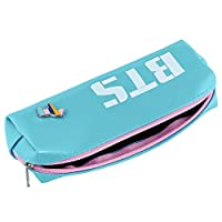 BTS Stationery Bag Student Pencil Storage Bag Boy Girl Zipper Large Capacity School Office Pencil Pouch Gift