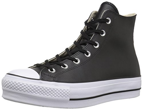 Converse Damen Chuck Taylor All Star Lift CLEAN Sneakers, Schwarz Black/White 001, 40 EU -
