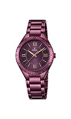 Festina F16924/2 - Reloj de pulsera analógico para mujer con mecanismo de cuarzo y correa de acero inoxidable