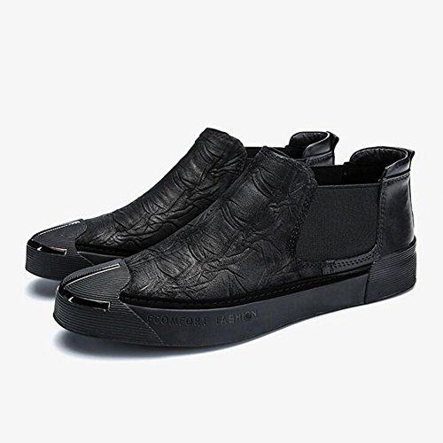 Uomo Scarpe Scarpe Inglese Mocassino Scarpe Stile Ginnastica Passeggio Scarpe da Corsa Basse Moda HUAN da da Primavera da Scarpe Casual Black da tSaqf