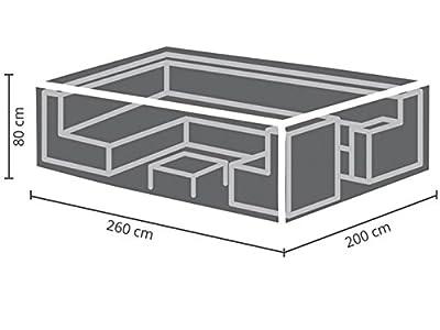 Perel Garden OCLS260 Schutzhülle Für Lounge-Set-260 cm, Schwarz, 260 x 200 x 80 cm von Velleman bei Gartenmöbel von Du und Dein Garten
