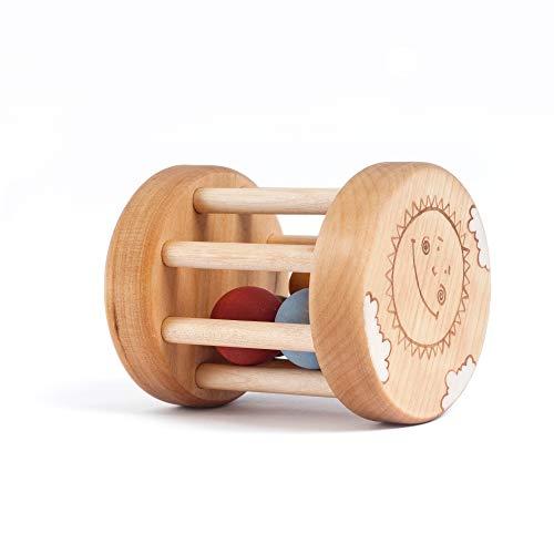 Rassel Baby Holz, Babyspielzeug ab 6 monate, Babygeschenk (Baby-rassel Natürliche)