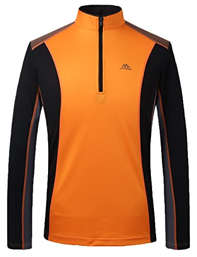 Tyraptor Herren Sport Shirt Langarm Fitness Funktionsshirt Half Zip Sweatshirt Outdoor Shirts