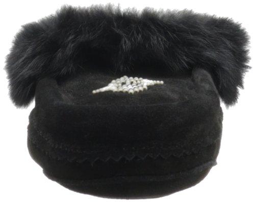 Manitobah Tipe Fur Trim Daim Mocassin Black