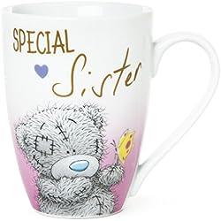 Me To You Taza de desayuno con osito para hermanas, «Special sister» sobre fondo blanco