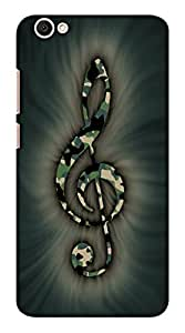 Blutec Music note Design 3D Printed Hard Back Case Cover for Vivo Y66