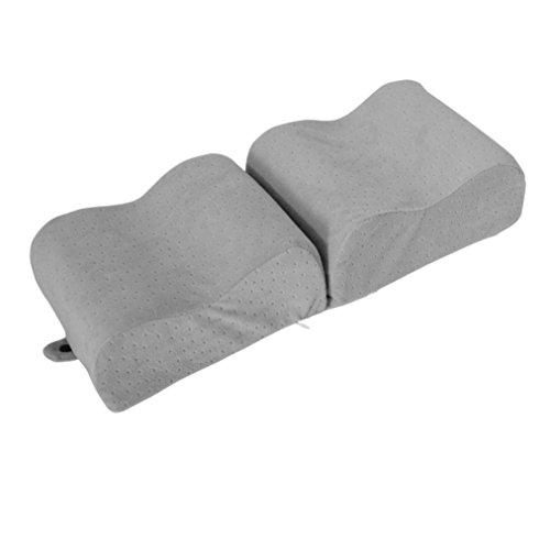 samLIKE Knie Kissen Memory Foam Bein Kissen für Bein Rücken Hüfte Schmerzlinderung Faltbare (Grau)