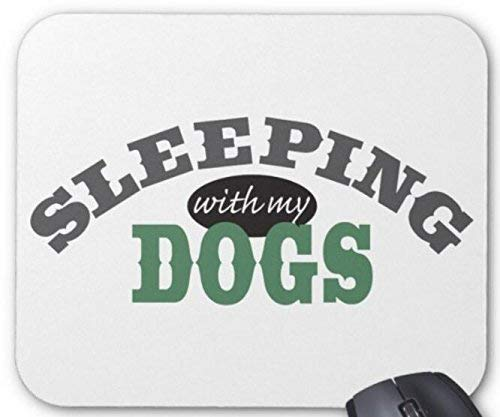 Mouse Pad Sleeping with My Dogs Mousepad Computer Accessories Gaming Mouse Mat 11.8 X 9.8 Inch