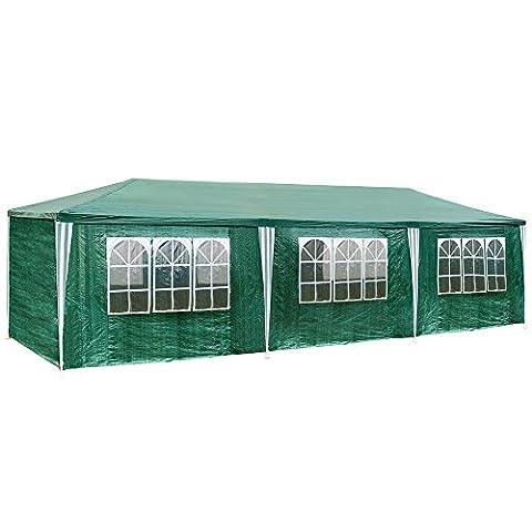 Tonnelle 8 X 4 - TecTake Tonnelle Tente Gazebo Pavillon de jardin