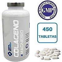 Colageno con Magnesio 450 tabletas x 725 mg. Colageno Hidrolizado + 31.5 mg Magnesio Suplemento